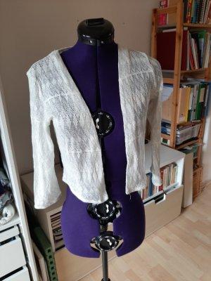 H&M Boléro en tricot blanc-blanc cassé