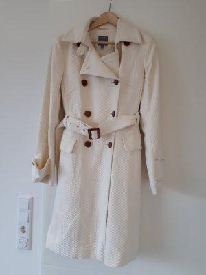 wollweißer oversize Mantel von Marc Aurel, Trenchcoat Style