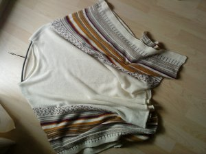 wollweißer Poncho Strick made in italy