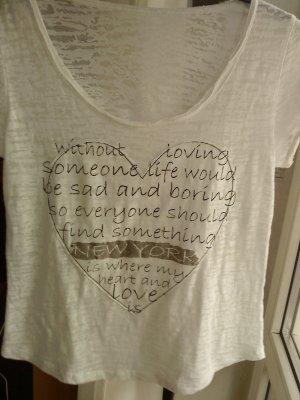 wollweißes T-Shirt mit Herzmotiv 38