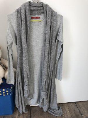 Smanicato lavorato a maglia argento-grigio