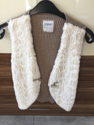 Esprit Fur vest multicolored