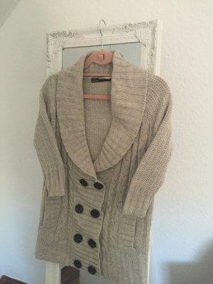 Wollweste von Zara in Beige