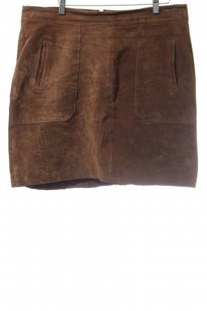 Woman by Tchibo Leather Skirt cognac-coloured street-fashion look