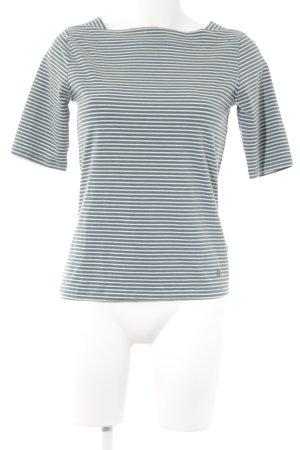 Woman by Tchibo Ringelshirt weiß-blassblau Streifenmuster schlichter Stil