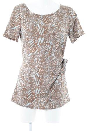 Woman by Tchibo T-Shirt hellbraun-türkis Animalmuster extravaganter Stil