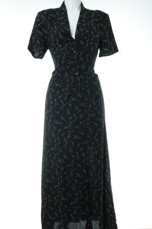 Woman Collection H&M Blusenkleid schwarz-weiß Allover-Druck Casual-Look
