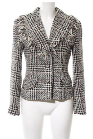 Woman Collection H&M Strickblazer schwarz-creme Allover-Druck Business-Look