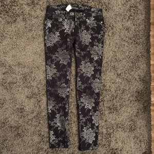 Woman by Tchibo Five-Pocket Trousers black-silver-colored
