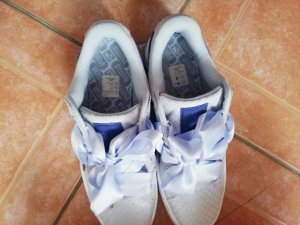 Puma Heel Sneakers baby blue-white cotton
