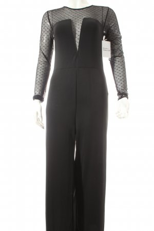 women'secret Jumpsuit schwarz Punktemuster Eleganz-Look