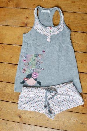 Pijama gris claro Algodón