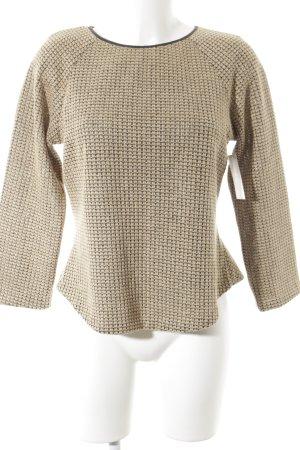 Wondaland Pull tricoté noir-beige style décontracté