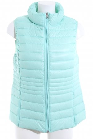 Wonderjackets Down Vest turquoise quilting pattern casual look