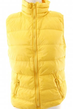 Wonderjackets Gilet en duvet jaune motif de courtepointe style athlétique