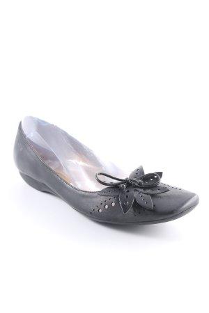 wonders Ballerinas mit Spitze schwarz Elegant