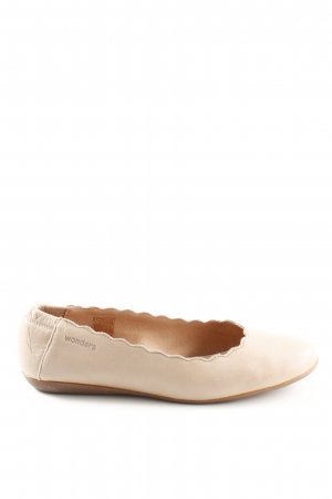 wonders faltbare Ballerinas wollweiß Casual-Look