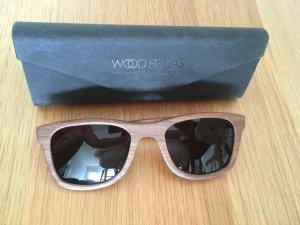 Angular Shaped Sunglasses multicolored wood