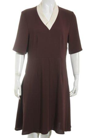 Wood Wood A-Linien Kleid bordeauxrot-creme Elegant
