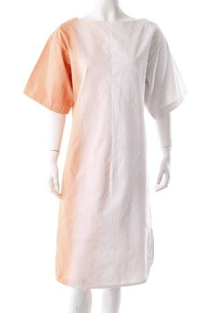 Wood Wood Jeanskleid Dipdye weiß-orange