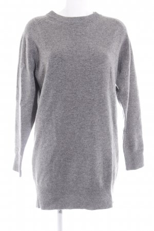 Wood Wood Long Sweater light grey-grey flecked casual look