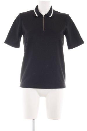 Wood Wood Polo-Shirt schwarz-weiß Casual-Look