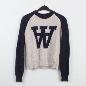 WOOD WOOD Pullover Gr. XS dunkelblau beige (18/9/539)