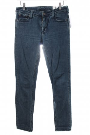 Wood Wood Skinny Jeans dunkelblau Washed-Optik