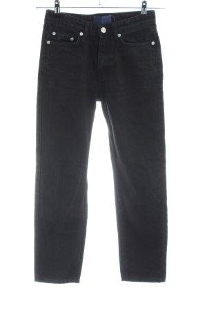 Wood Wood Straight-Leg Jeans schwarz Casual-Look