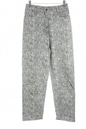Wood Wood Straight-Leg Jeans weiß-grau Zackenmuster Casual-Look