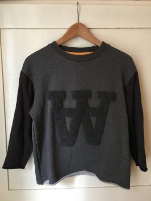 Wood Wood Sweater grau