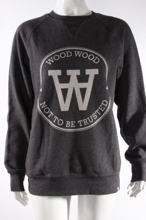Wood Wood Sweatshirt anthrazit mit Print
