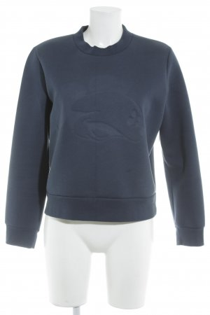 Wood Wood Sweatshirt dunkelblau Comicmuster Casual-Look
