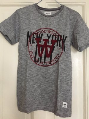 Wood Wood T-Shirt New York grau XS