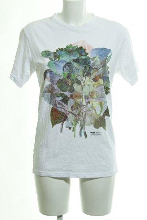 Wood Wood T-Shirt weiß Motivdruck Casual-Look