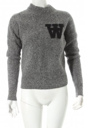 Wood Wood Wool Sweater grey athletic style