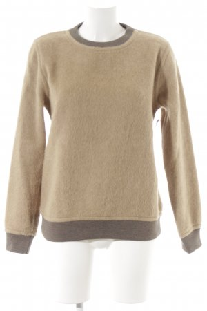 Wood Wood Wollpullover sandbraun-graubraun Brit-Look