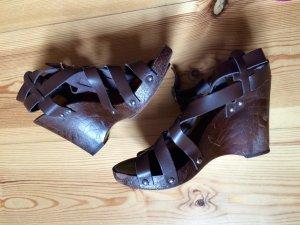 Wedge Sandals black brown