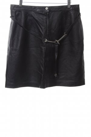 Woodpecker Leather Skirt black casual look