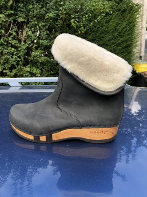 woody Fur Boots anthracite