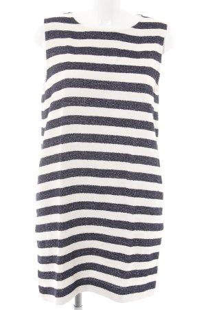 Woolrich A-Linien Kleid blau-weiß Streifenmuster Casual-Look