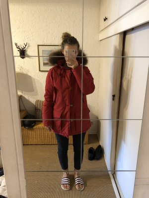 Woolrich Winter Coat red
