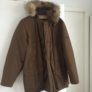 Woolrich Down Jacket ocher-bronze-colored synthetic fibre