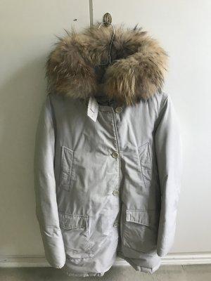 Woolrich Parka light grey cotton