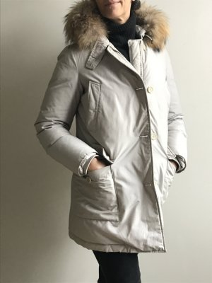 Woolrich Parka light grey cotton