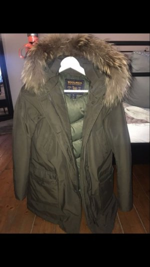 Woolrich Down Coat olive green