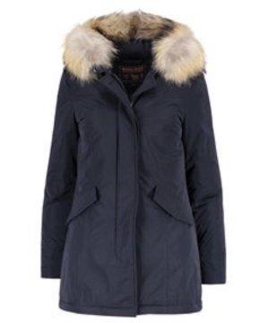 Woolrich Arctic Parka Damen Daunen Füllung Jacke blau Größe  S Echtfell