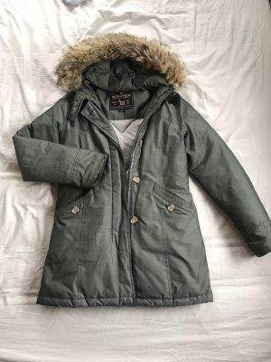 Woolrich Cappotto invernale cachi-grigio-verde