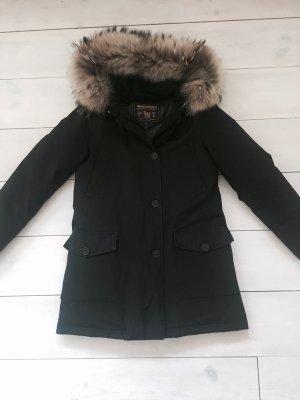 Woolrich Arctic Parka Fell schwarz Daunen XS neuwertig luxus