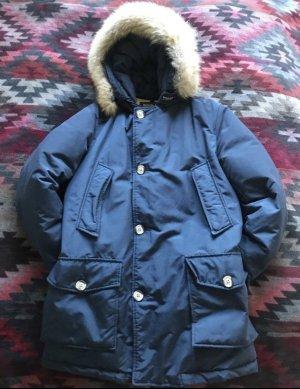 Woolrich Hooded Coat blue